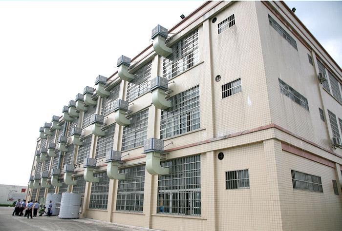 广东某女子戒毒所生产车间选择星科环保空调冷风机