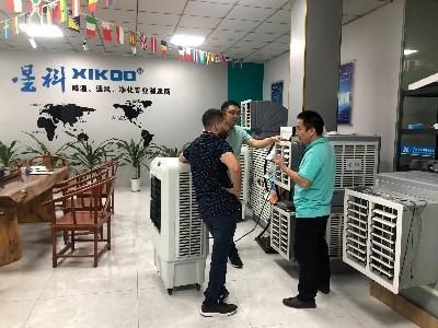 中东客户在了解环保空调